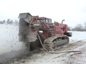Bentonite Soil Slurry Cut-Off Wall for Groundwater Containment