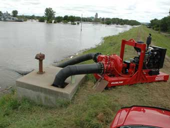 Levee Flood Pumping