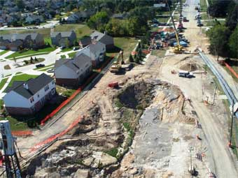 Major Sink Hole Sewer Failure Bypass Pumping
