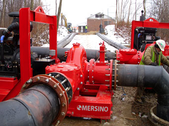 Mersino Sewer Bypass Pumping Services