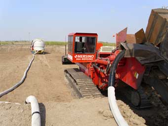 Sock Application Drainage Trenching in Florida