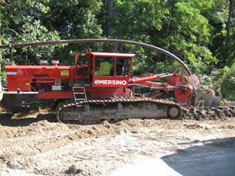 HDPE Barrier Wall Collection Trenching