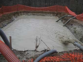 Landfill Bentonite Slurry Sump