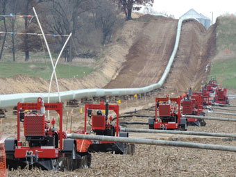 Mersino Pipeline Sock Dewatering Pumping