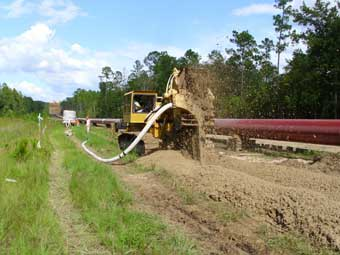 One Pass Trenching Pipeline Construction Drainage