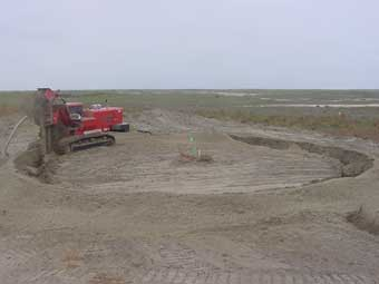 One Pass Trenching Sock Tile Installation