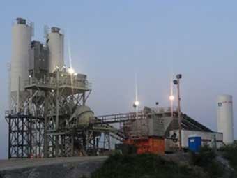 Smithland Batch Plant at Night