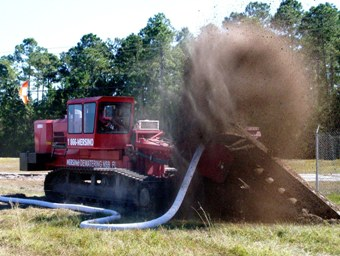 One Pass Trenching HDPE Collection Remediation