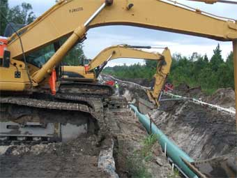 Wellpoint Dewatering for Pipeline Installation